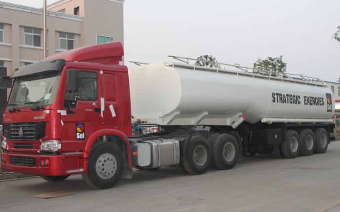 3 axle 40,000 Liters crude oil tank trailer