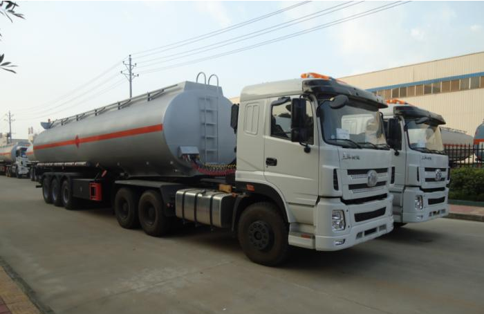 45000 Liters stainless steel ethonal tanker semi