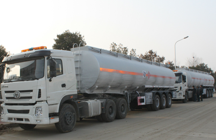 45,000 Liters stainless steel ethanol tanker semi-trailer
