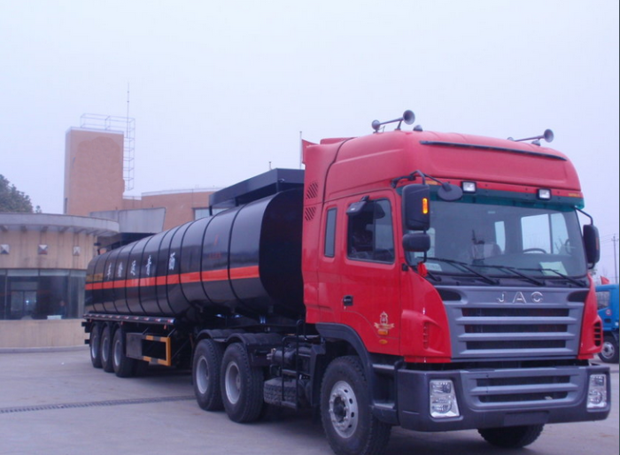 45,000 liters insulated modified asphalt tank semi-trailer