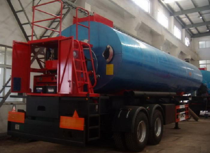 2 axle liquid bitumen heating preservation tank semi-trailer with pump