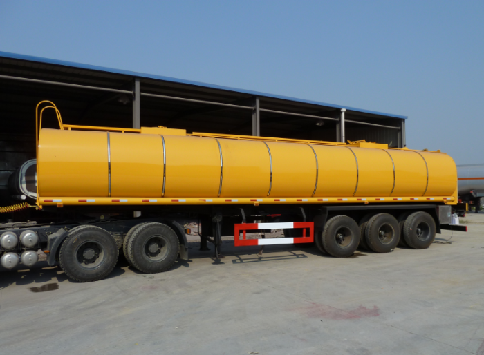 30cbm liquid asphalt insulation layer tank semi-trailer