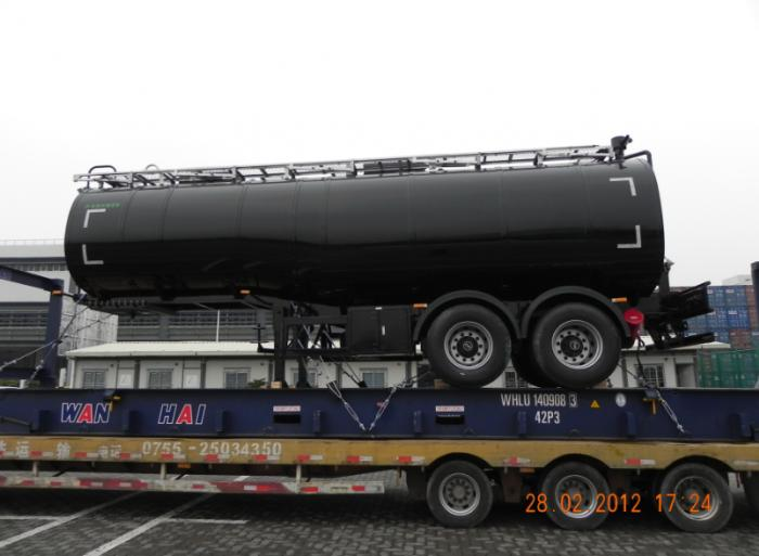 30000 Liters 2 axle heat preservation bitumen tank semi-trailer