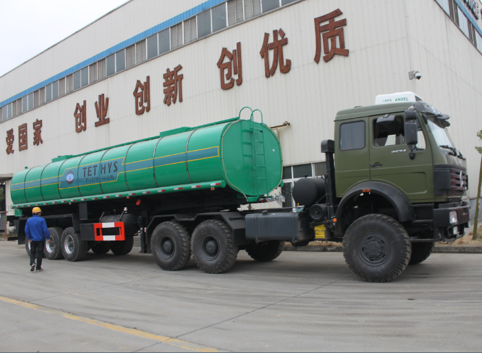33000 liters 3 axle bitumen heat preservation tank semi-trailer