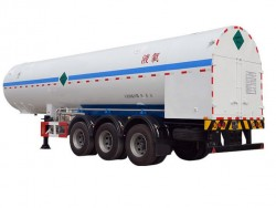 3 axles transport liquid oxygen tanker trailer
