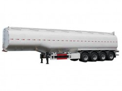 4 compartments aluminum oil tanker trailer