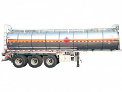 Stainless steel 33000 liters 3 axles water tank semi trailer