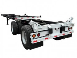 20' to 40' extendable trailer 2 axles skeleton chassis