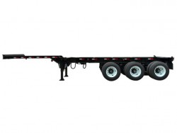 20ft to 40ft expandable container chassis trailer