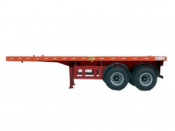 Standard 20 ft flatbed semi trailer for 20ft container