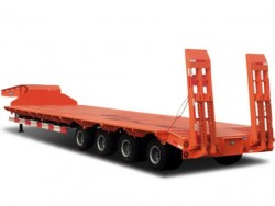 heavy duty 60 tons 4 axles low bed trailer